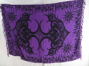 purple indonesia sarongs tribal tattoo ethinic wall art