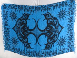 blue cruise wrap dress tattoo sarong