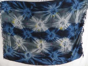 starburst dark blue grey tie dye clothing wholesale sarong batik wrap