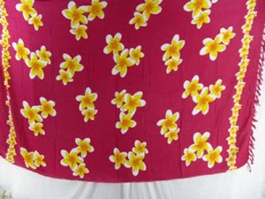 fuchsia plumeria flowers hula sexy wrap skirt flower sarongs