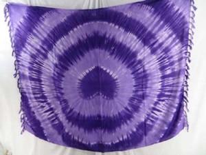 purple swirl tie dye mundu pareau sarong scarf pareo