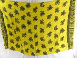 yellow turtle sarong