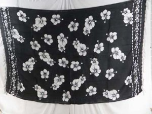 wholesale pareos and sarongs tropical clothing black and white hibiscus flower