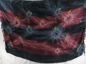 tie dye star burst dark blue and brown sarongs wall hangings hippie shawls