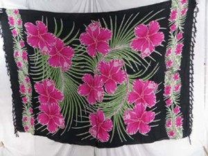 pink and black hibiscus dresses indonesian sarong