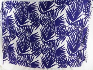 purple and white palm leaves sarong