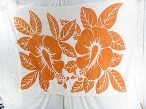 orange large hibiscus white dresses discount clothing