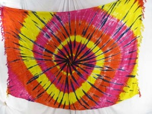 tie dye swirl dresses sarong pink red yellow