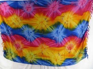 wholesale tie dye dresses sarong starburst blue pink yellow