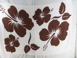 hibiscus Hawaiian beach bikini wrap