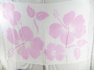light pink giant hibiscus flowers pareo cheap sarongs wholesale