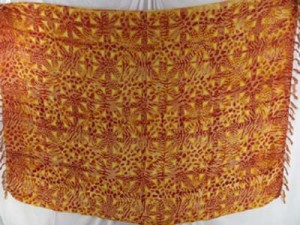 animal skin yellow orange sarong