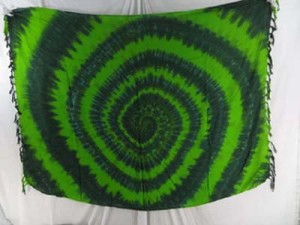 clothing for wholesale green swirl tie dye sarong