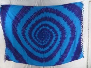 blue purple tie dye swirls Sarong pareos wholesale