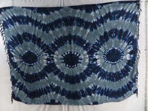 grey beach pareo wrap tie dye sarong