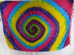 mixed designs colors swirl tie dye sarong mixed designs randomly picked by our warehouse staffs