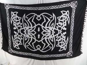 black and white celtic sarong sarong beach dress