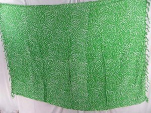 green tiny leaf sarong