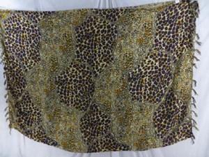 animal skin animal print sarong