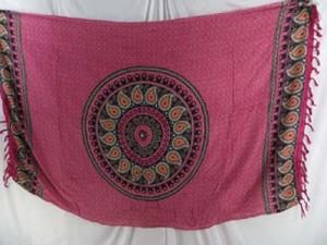 paisley mandala plum color sarong