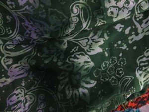 double process green floral sarong