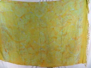 double process yellow swirl sarong