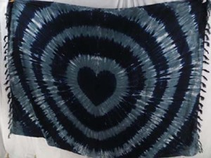 tie dye clothing swirl tie-dye heart sarong grey color