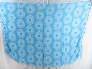 turquoise blue coin circle sarong
