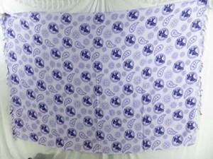 sarong sarung batik purple elephant white background