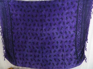 wholesale beach wear purple gecko lizard animal kanga lava-lava