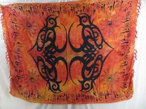large tattoo tribe design sarongs in mixed colors, assorted colors randomly picked by our warehouse staffs