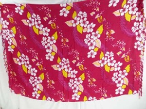 fuchsia aloha lei swimming beach cover up Hawaiian sarong