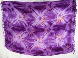 wholesale purple star burst smoked tie dye sarongs clothing women's fashion
