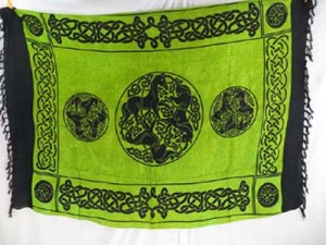 green or orange sarong Celtic triple horsees fashion wholesale clothing, assorted colors randomly picked by our warehouse staffs