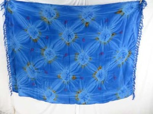 blue star busrt tie dye sarong cruise clothes for women