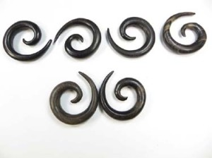 Large Gauge Sprial Expanders Earrings for Stretched Piercings