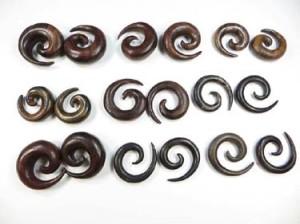 Wood Flesh Plugs Sprial Stretcher Expander Gauge Earrings