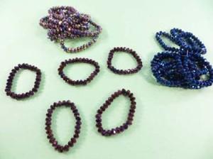 metallic finish fashion stretchy braclets