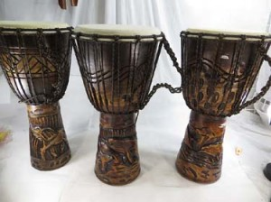 Djembe drum professional, handcrafted from one piece of mahogany wood with alpine string  Professional djembe drum with deep carved tribal designs, African style percussion drum with goat skin head, handcrafted from one piece of mahogany wood with alpine string