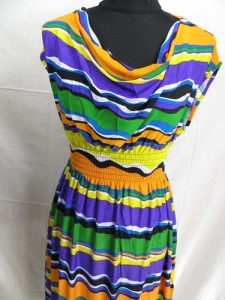 Abstract color stripes short dress / sundress / beach dress / vacation dress / halter dress / mini dress
