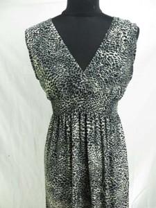 deep-V animal print long dress / maxi dress / boho beach dress / maxi sundress / vacation dress / halter dress