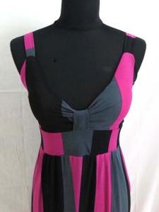 multiple color stripes long dress / vintage dress / maxi dress / beach dress / maxi sundress / vacation dress / halter dress