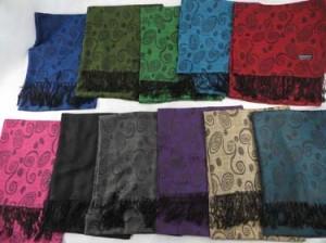 Artistic Swirls Pashmina Scarves Shawl Wrap Stole. Soft, warm, stylish.