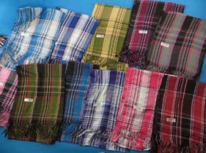 Mens and unisex plaid checked pashmina scarves shawl wrap stole, keffiyeh scarves, grid oblong scarf.