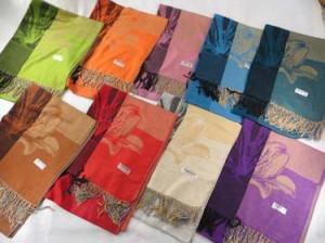 Daylily flower pashmina scarves shawl wrap stole