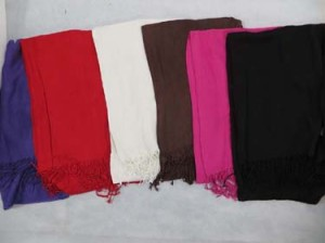 Solid color pashmina scarves shawl wrap stole. Colors includes fuchsia, black, purple, white, brown, red.