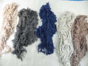 3D fringed hippie chic winter scarf