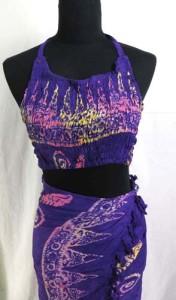 Assortment design of halter top and sarong set, handmade in Bali, Indonesia.