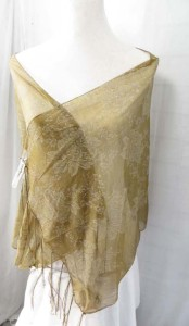 Rose designs sheer scarf wrap shawls