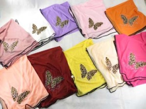 butterfly polyester scarves shawl wrap stole. Light, thin, soft, half see through, beautiful